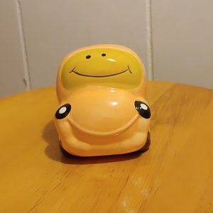 Other - Smily face ceramic car bank.